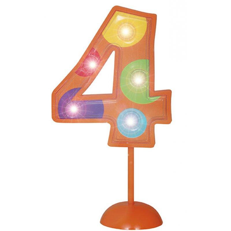 Blinkende geburtstagsdeko f r den 4 geburtstag for Geburtstagsdeko 1 geburtstag