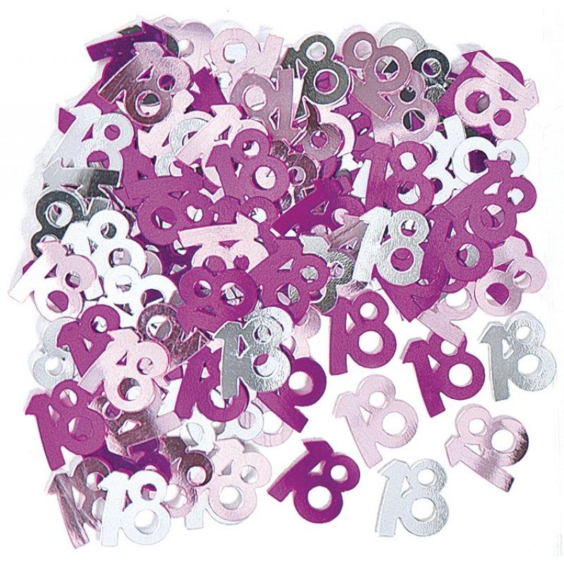 deko konfetti 18 geburtstag in pink 1 cm. Black Bedroom Furniture Sets. Home Design Ideas