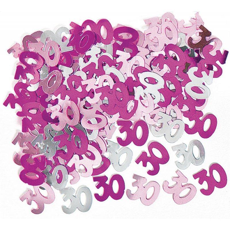 deko konfetti 30 geburtstag in pink 1 cm. Black Bedroom Furniture Sets. Home Design Ideas