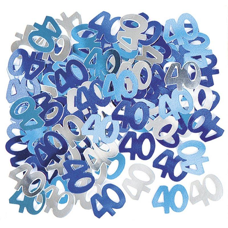 deko konfetti 40 geburtstag in blau 1 cm. Black Bedroom Furniture Sets. Home Design Ideas